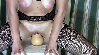 Extreme Insertion MILF Sexing More Object Insertions and Pussy Gaping