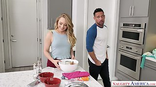 Bootyful blonde AJ Applegate is fucked by husband's brother Johnny Castle
