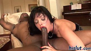 Hot interracial action with ravishing Sadie