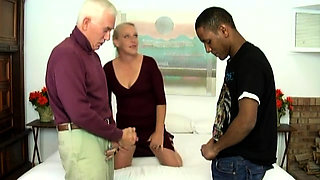 Bisexual Mature Couple in Threesome