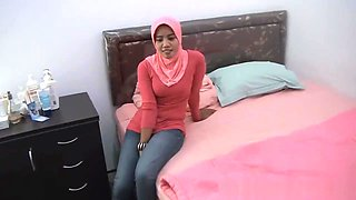 Sinta Muslim Woman cheating on husband with white Boss for money
