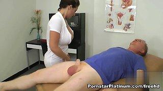 Dirty Nurse Eva Notty Tit Fuck and Ball-Bust