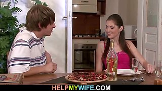 Pizza guy bangs married bitch from behind