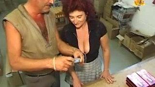 Heavy pierced granny with lost of cunt piercings slave slut