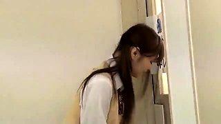 Messy japanese schoolgirl acquires fucked in uniform
