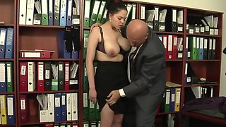 Huge Saggy Tits Italian Secretary Fucks The Boss