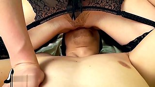 Teen in stockings gets orgasm riding dick. FEMDOM SEX & FACESITTING ORGASM.
