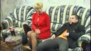 Blonde Milf Russian Teacher Fucks Student At Home