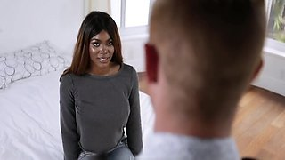 Black Teen Step Sister With Big Natural Tits Sex With White Step Brother