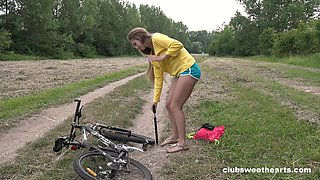 Lad deep fucks amateur chick in superb outdoor tryout
