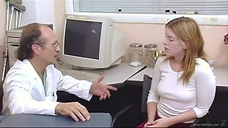 Doctor and cute patient have a very intimate relationship