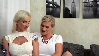 Steamy MILF doing a heavily pierced lesbian housewife