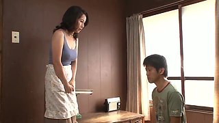 Japanese Mom Caught Son Masturbating Son Force To Fuck Mom