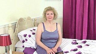 British granny Diana going solo in fishnets