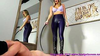 Mistress whips her slave hard