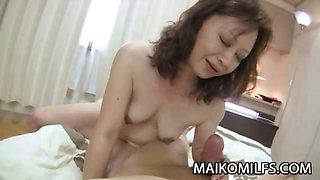 Japan Granny Rides Cock