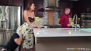 Abigail Mac nearly got caught cheating on her husband in the kitchen