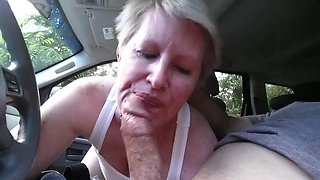 sucking dick in car