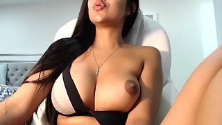 Huge boobs milf riding dildo