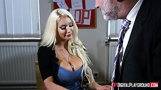 Nicolette Shea seduces a handsome man for a sexual adventure