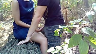Fuck after college class in the woods with my grilfriend