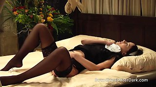 Lesbian maid can&#039t stop masturbating with madame&#039s panties