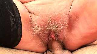 Picked up 60 years old granny rides his young cock