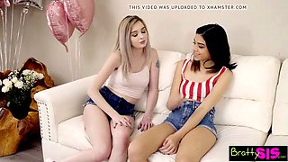 Turning 18 and getting step brother&#039s cock w bff&#039s pussy