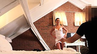 Escort Strips For Casting and Fucked In Her Dress