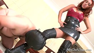 Man Sub Slave Licks Boots Clean