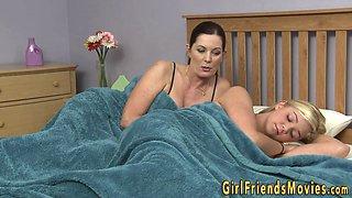 Lesbian milf tribs teen
