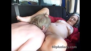 Street whore granny fucked in back seat of truck