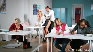 hardcore sex in the classroom