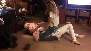 Living room wrestling