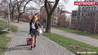 BITCHES ABROAD, Hot Czech Babe Silvia Dellai Has Rough Fun Abroad
