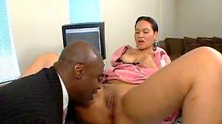 Rosario stone hot latina maid fuck with her black boss