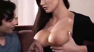 Young Nephew plays with his milf aunt