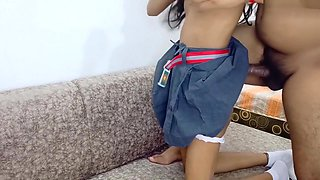 Indian Petite School Babe Gets Fucked Bystepuncle
