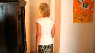 Stacked mature lady has a young masseur pounding her holes