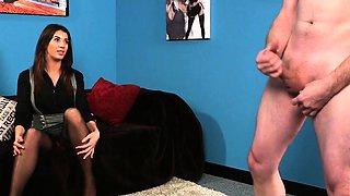 British cfnm voyeur humiliates guy from couch