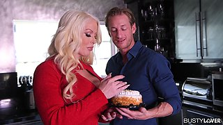 Busty Lovers Kitchen Capers With Alura Tnt Jenson Cock Sucking And Pussy Fucking