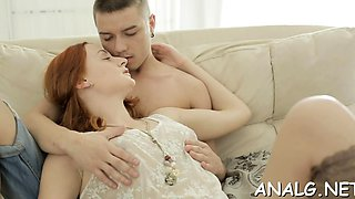 Lewd young russian chick Margo C attacks donga with mouth