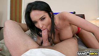 POV video of busty girlfriend Anissa Kate getting ass fucked