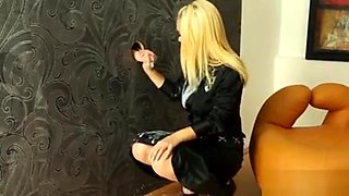 Blonde Euro Babe And A Slime Dildo