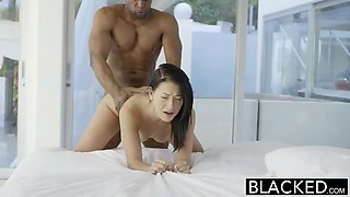 Teen beauty tries interracial anal sex