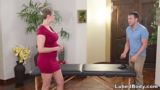Busty milf boss must be impressed by her worker