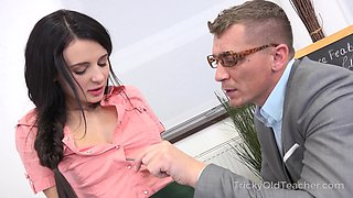 Far from being shy Russian Kate Rich is pounded well by her tutor