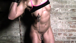 Female Muscle Cougar Nipple and Clit Clamps