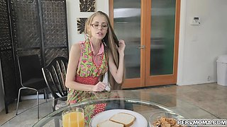 Kyaa gives Brother another sensual lesson under the breakfast table