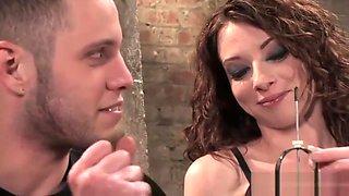 Kinky mistress makes her slave eat her snatch
